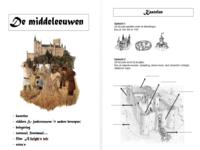 123 lesidee geschiedenis for Werkbladen ridders en kastelen