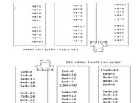 123 lesidee tafelsommen for Werkbladen tafels